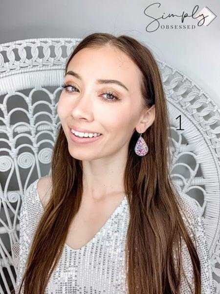 FAIRE - Framed Confetti Teardrop Earrings