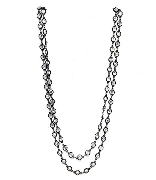 Karli Buxton - Rhodium CZ Layer Necklace