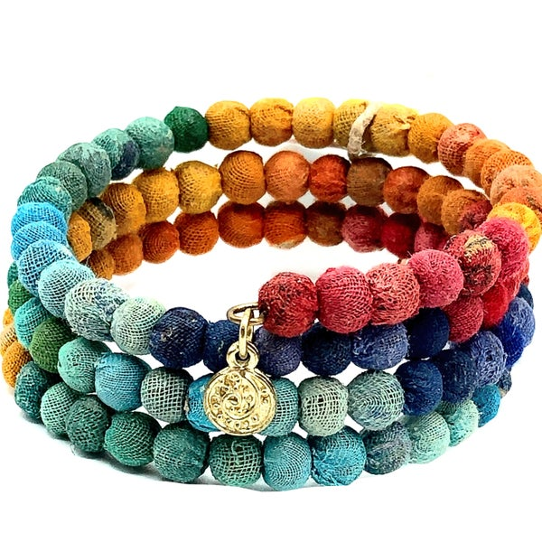 WORLD FINDS - Earthy Rainbow Coil Bracelet