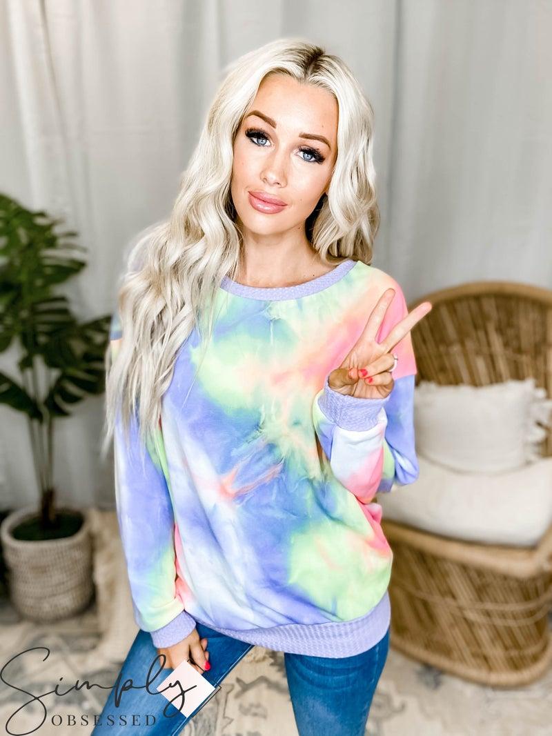 White Birch LA First Dibs - Long Sleeve Light Sweater