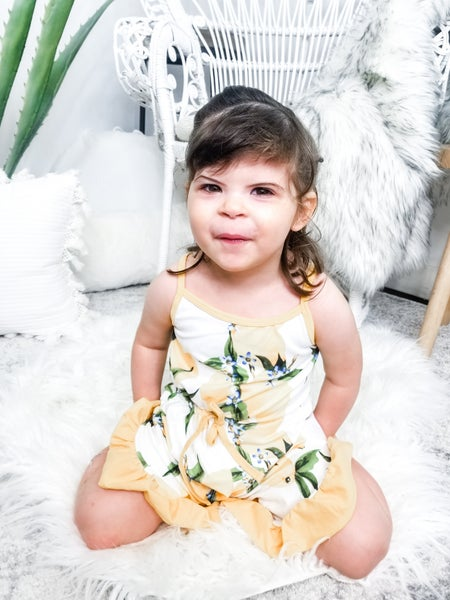 Honeydew - Lemon print ruffle romper(kids)