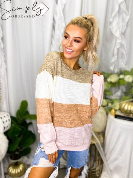 Bibi-Multi Color block Sweater