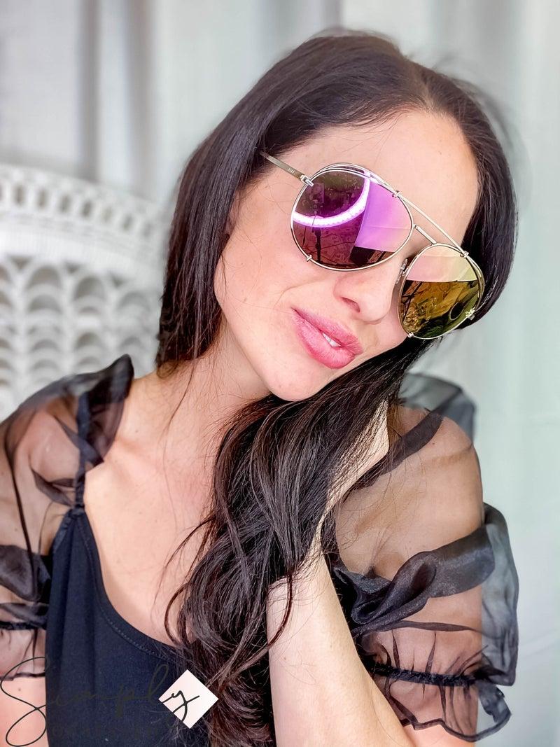 Dash champagne classic aviator sunglasses