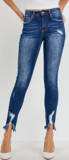 C'est Toi - Mid rise ankle skinny jeans(plus)
