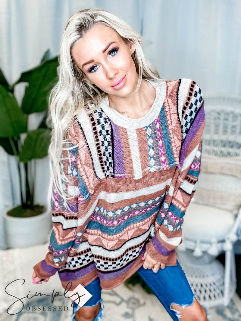 Easel - Extreme boho sweater