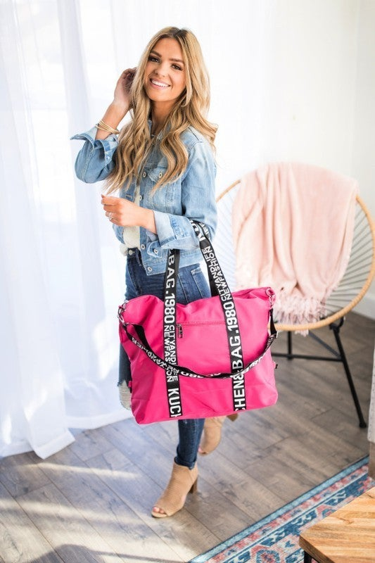 Dani & Em - Vacay Bound Trendy Strap Weekend Getaway Bag Tote