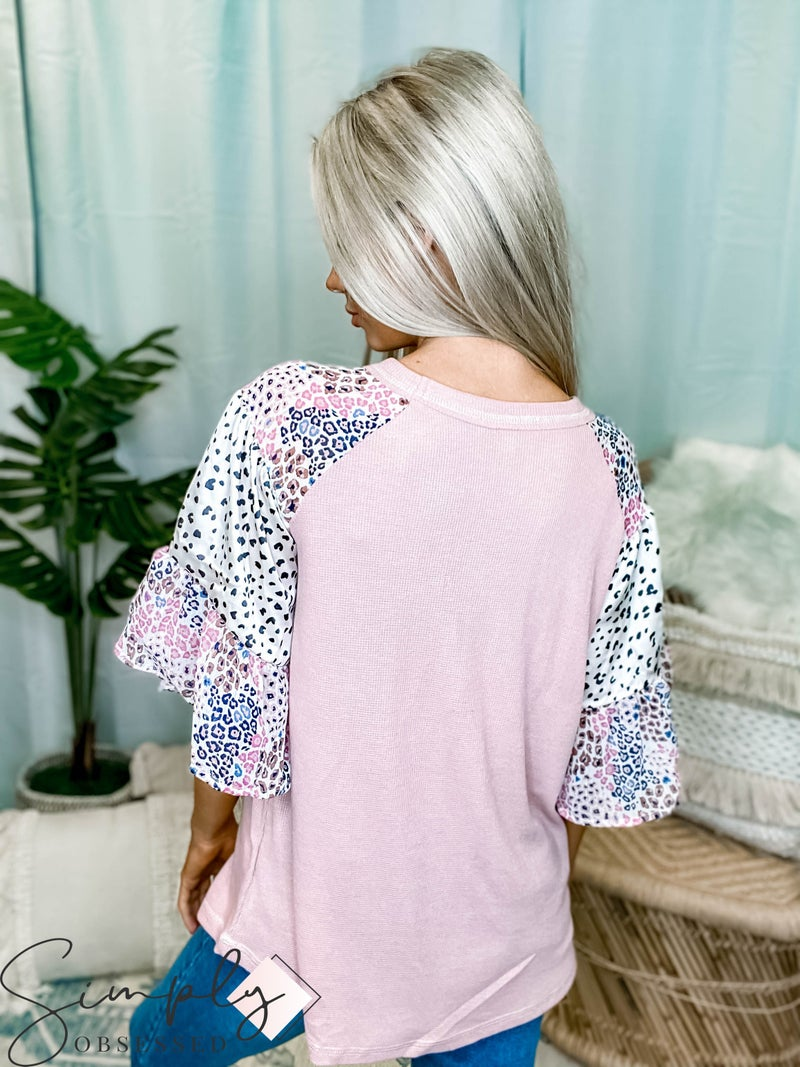 Hailey & Co - 3/4 Sleeve thermal knit top