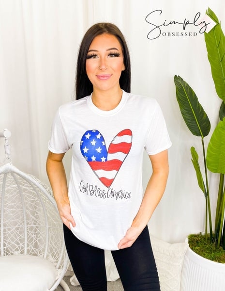Cali Boutique - God Bless the USA Graphic Top