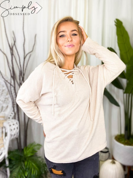 WHITE BIRCH-Long Sleeve Solid Knit Sweater