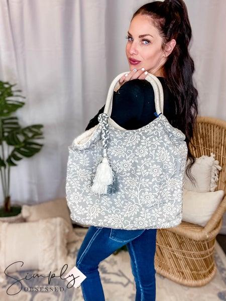 Chloe & Lex - Merrin Grey Tote Bag