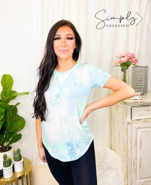 7th Ray - Short sleeve tie dye lounge wear top