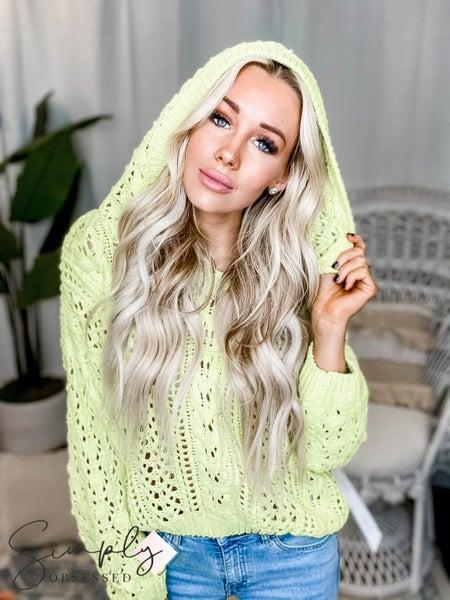 Lumiere-Chenile long sleeve hoodie sweater