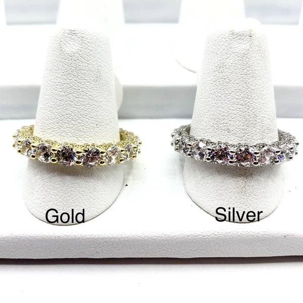 GORGEOUS Diamond CZ with CZ Sides Sarah Ring