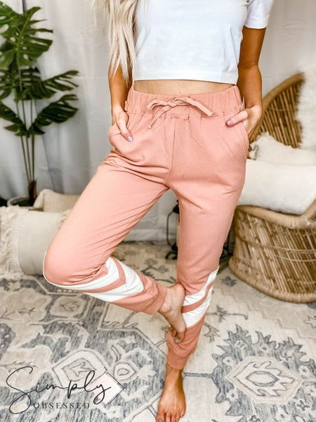 Easel - Drawstring detail athletic sweat joggers