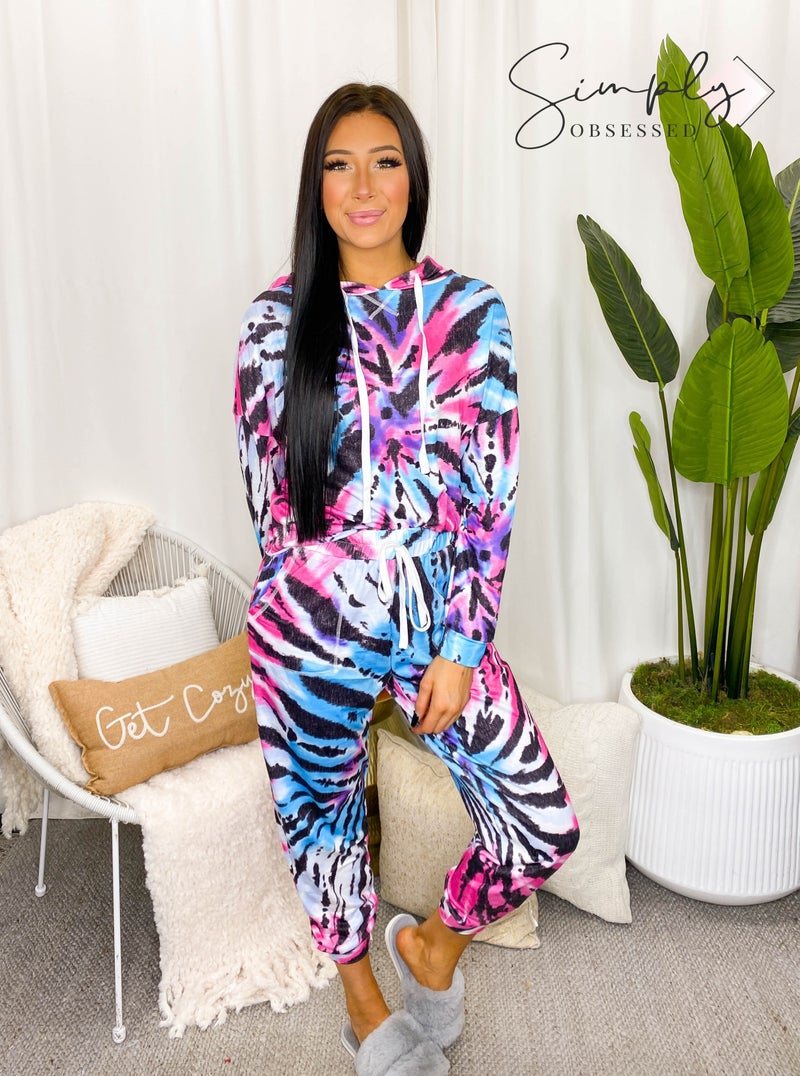 ePretty - Tie Dye Jogger Top and Bottom Set