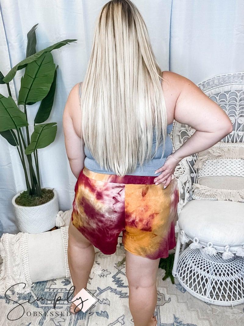 GeeGee - Tie Dye Elastic Waist Shorts