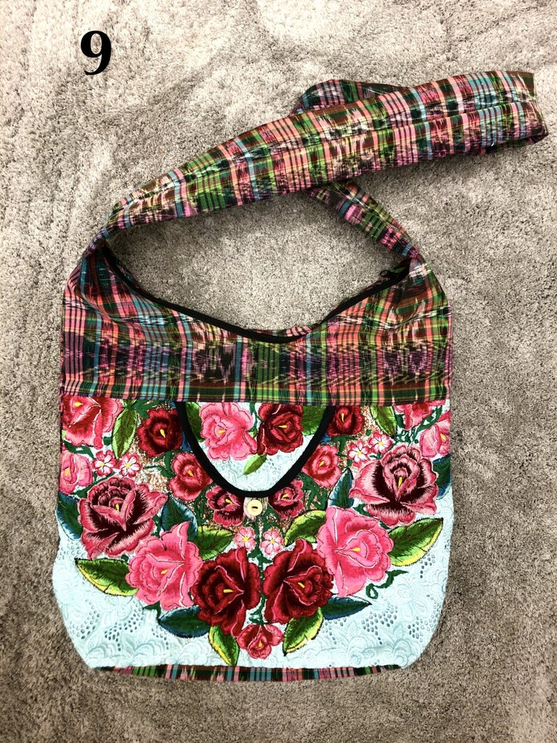 Lucia's Imports - Assortment of Multicolored Recycled Guatemalan Huipile Purse - The Blues/Greens/Yellows