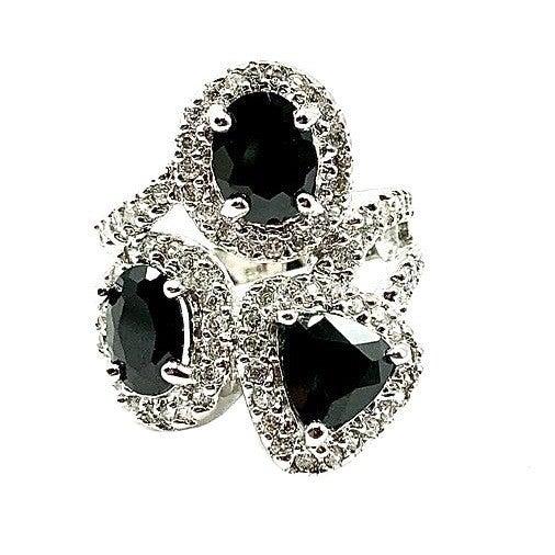 Black Sterling Silver Ring