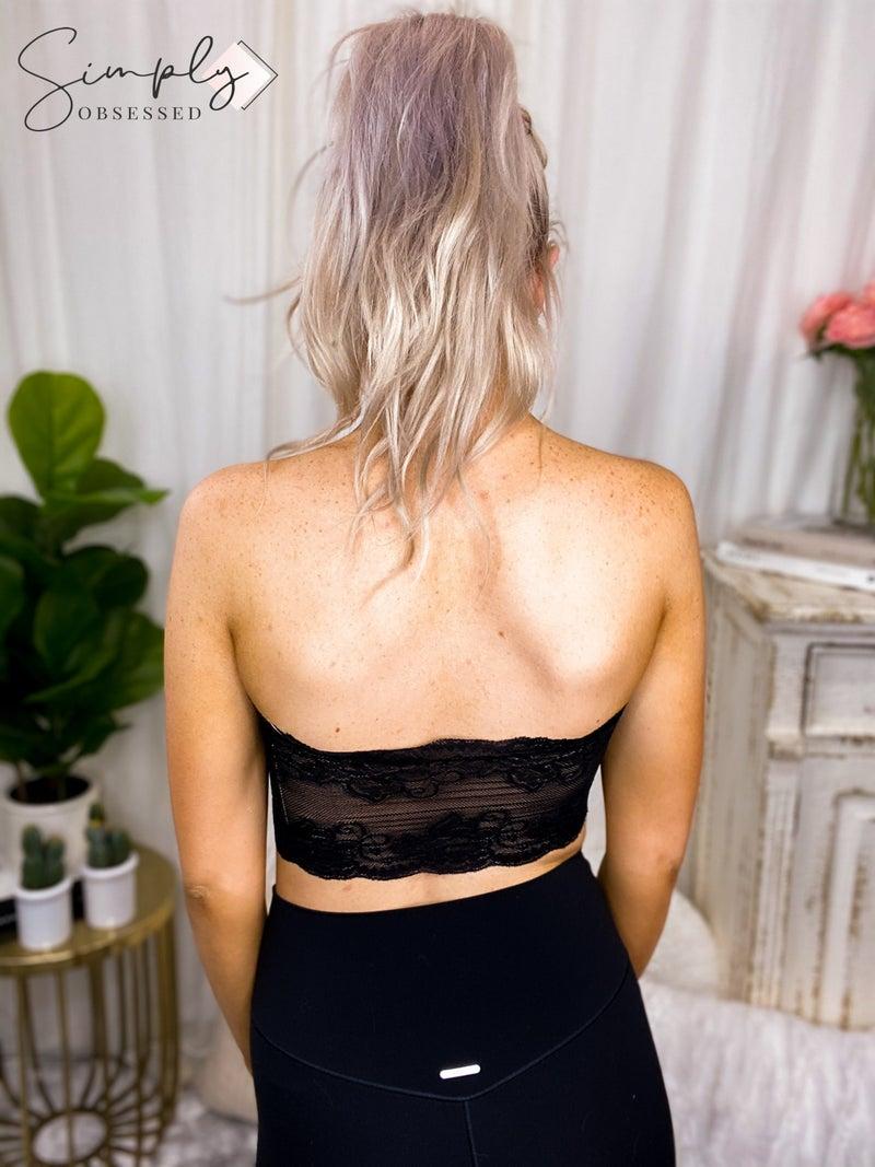 AMERIKAN BASICS-Lace Back Bandeau