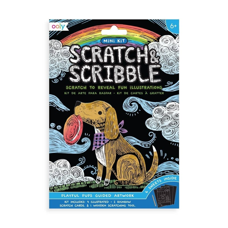 FAIRE-MINI SCRATCH AND SCRIBBLE ART KIT