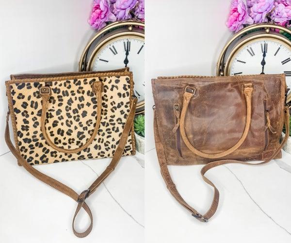 American Darling - Cheetah print leather cross body bag