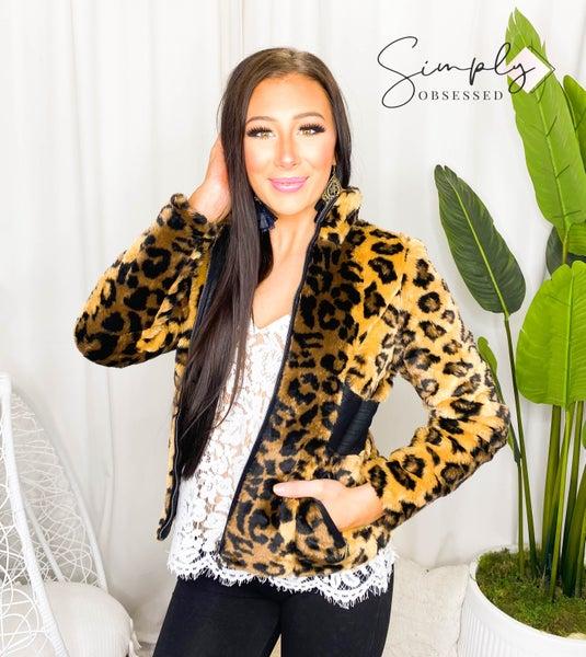 LA Coalition - Short faux fur jacket