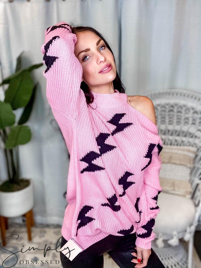 Blue Buttercup - Sweater w/ Lightning Bolts