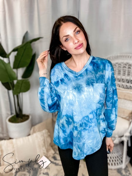 Mittoshop - Tie dye v neck long sleeve sweatshirt