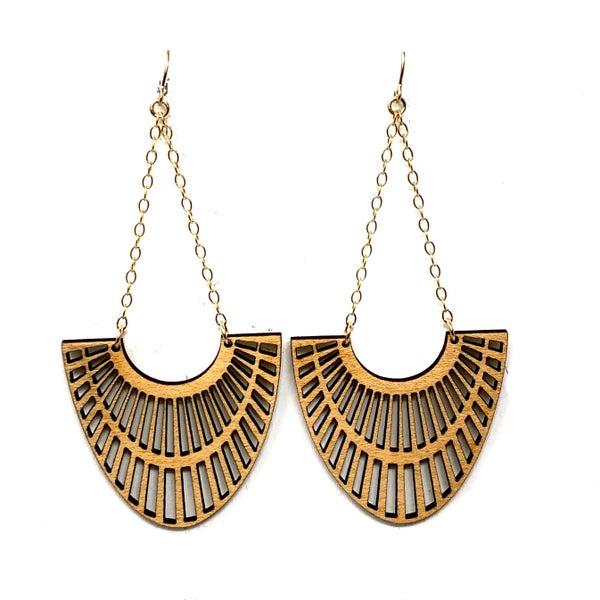 Wooden Cleo Earrings