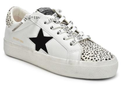 Vintage Havana - Cheetah and star design sneakers