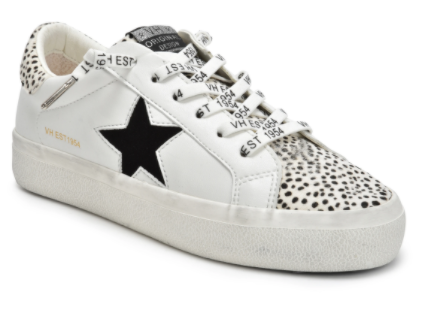 Vintage Havana - Cheetah and star design sneakers
