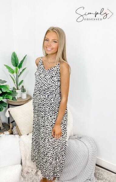 Doe & Rae - Animal print pleated dress