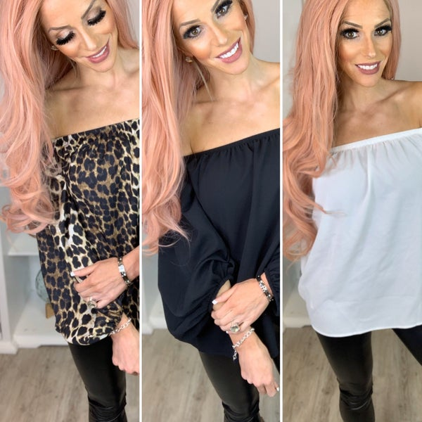 Tracies - Off the shoulders top 4 styles