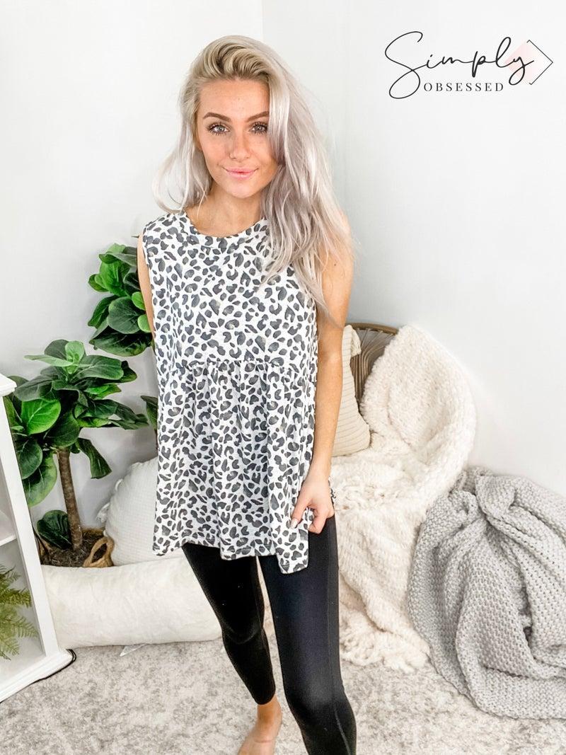 SEW IN LOVE-Leopard Print Tank