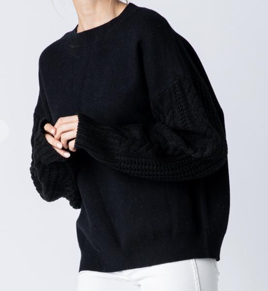 &merci - Cable sleeve sweatshirt