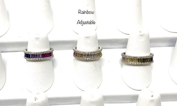 Ombre rainbow band ring