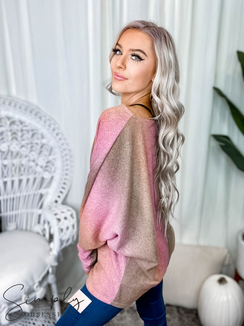 White Birch - Long sleeve tie dye knit top(All Sizes)