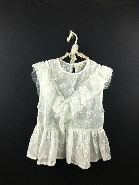 POL - Sleeveless Lace Tunic Top