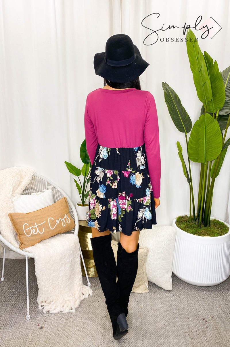 Sew In Love - Long Sleeve Floral Dress