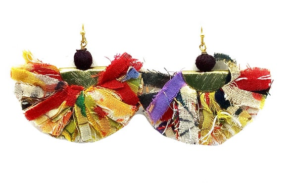 WORLD FINDS - Gold French Wire Fanned Fringe Earrings