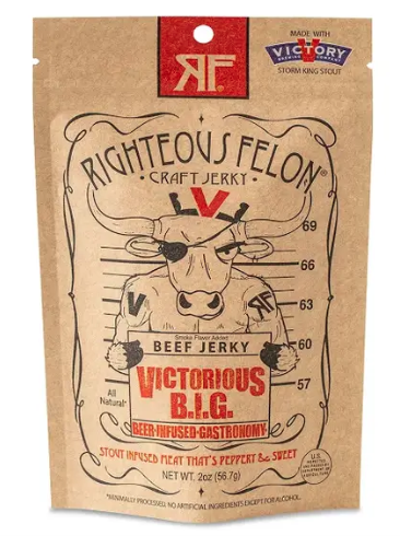 Righteous Felon Craft Jerky - Beef Jerky 2oz