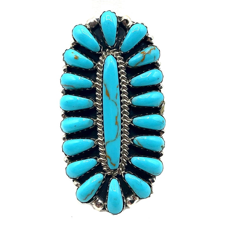 M&S - Turquoise Squash Ring