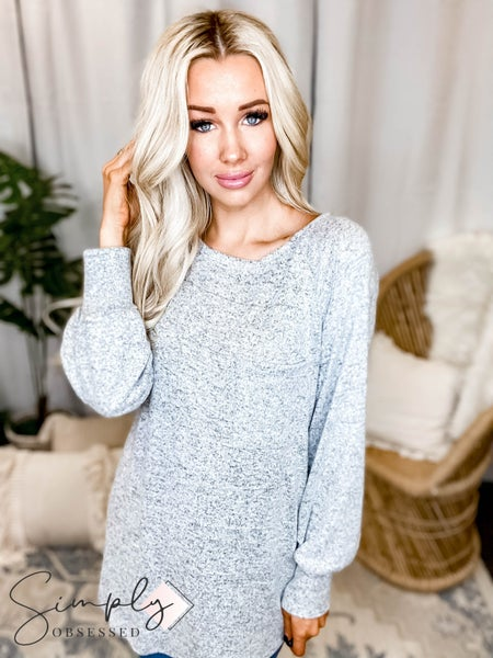 Orlando White Birch Pre-Sale - Long Sleeve Solid Knit Top