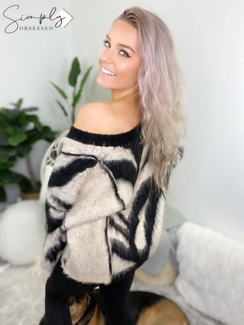 Pol - V neck knit sweater