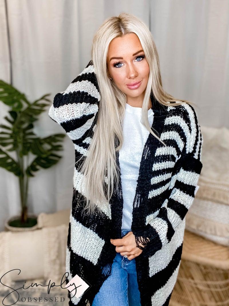Jodifl - Striped Knit Cardigan