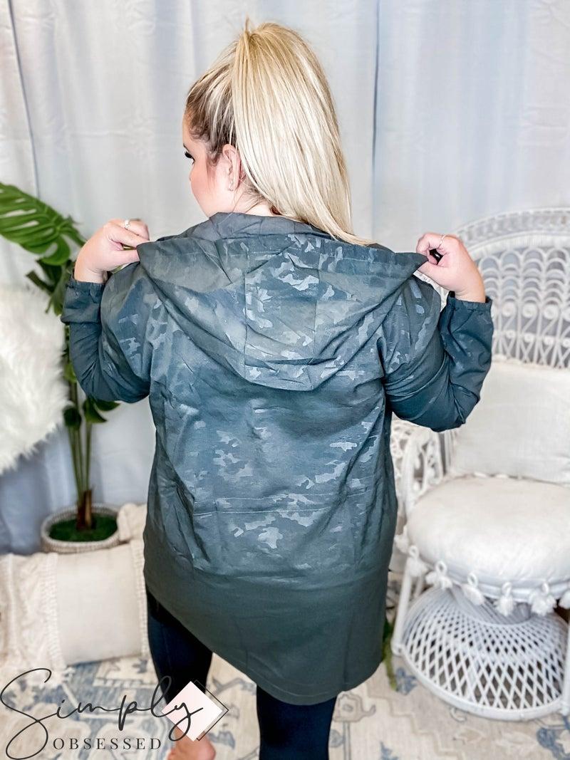 Oddi - Hood detail zip up windbreaker jacket(All Sizes)
