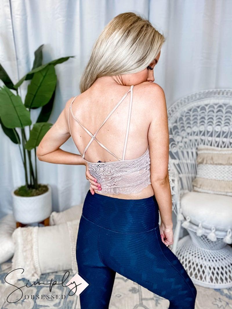 Mittoshop - Criss cross back detail lace bralette