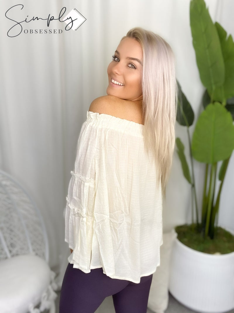 Kori - Tiered Sleeve Off Shoulder Top