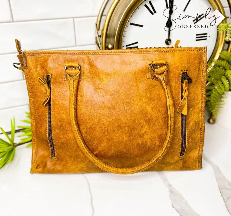 American Darling - Genuine leather carry conceal pocket cross body bag