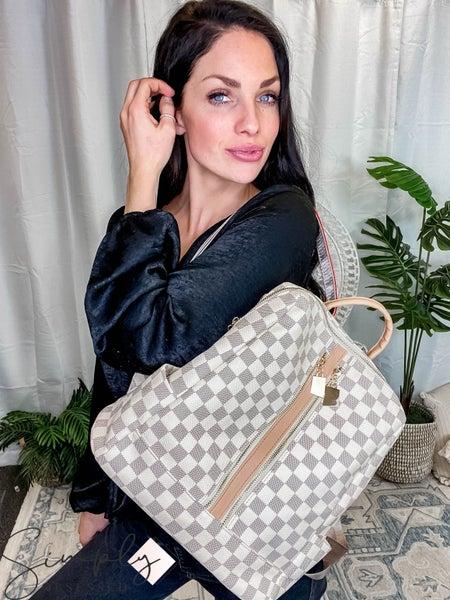 Dani & Em - Checker Convertible Backpack W/ Wristlet